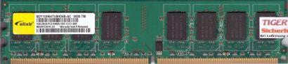 Elixir M2Y1GH64TU8HD6B-AC PC2-6400 1GB DDR2 800MHz Arbeitsspeicher RAM* r519