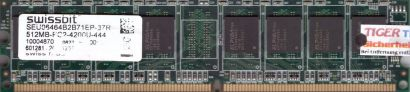 Swissbit SEU06464B2B71EP-37R PC2-4200 512MB DDR2 533MHz Arbeitsspeicher RAM*r524