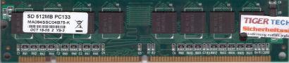 MA084SSC04B75-K PC133 512MB SDRAM 133MHz SD RAM mit SEC Chips* r527