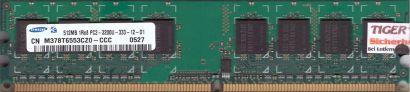 Samsung M378T6553CZ0-CCC PC2-3200 512MB DDR2 400MHz Arbeitsspeicher RAM* r531