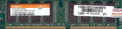 Hynix HYMD264646D8J-J AA-M PC-2700 512MB DDR1 333MHz Arbeitsspeicher RAM* r534