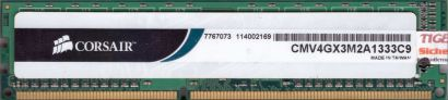 Corsair 4GB Kit 2x 2GB CMV4GX3M2A1333C9 PC3-10600 DDR3 1333MHz CL9 RAM* r540