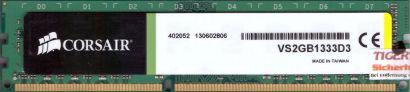 Corsair VS2GB1333D3 PC3-10600 2GB DDR3 1333MHz CL9 Arbeitsspeicher RAM* r542