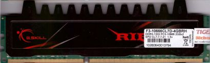 G.SKILL RIPJAWS 4GB Kit 2x2GB F3-10666CL7D-4GBRH PC3-10666 DDR3 1333MHz RAM*r550