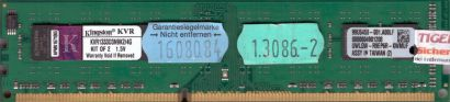 Kingston KVR1333D3N9K2 4G PC3-10600 2GB DDR3 1333MHz 99U5458-001 A00LF RAM* r564
