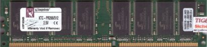Kingston KTC-PR266 512 PC-2100 512MB DDR1 266MHz 9905216-001 A03 RAM* r568