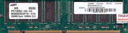 Samsung M366S3323FTS-C7A PC133 256MB SDRAM 133MHz Arbeitsspeicher SD RAM* r570