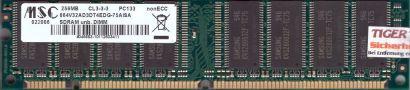 MSC 864V32AD3DT4EDG 75AISA PC133 256MB SDRAM 133MHz Arbeitsspeicher SD RAM* r571