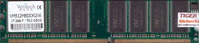 Veritech VM512MBDDR266 PC-2100 512MB DDR1 266MHz Arbeitsspeicher RAM* r572