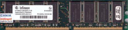 Infineon HYS64D128320HU-5-B PC-3200 1GB DDR1 400MHz Arbeitsspeicher RAM* r574