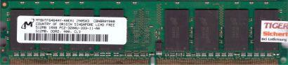 Micron MT8HTF6464AY-40EA1 PC2-3200 512MB DDR2 400MHz Arbeitsspeicher RAM* r579