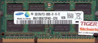 Samsung M471B5673FH0-CF8 PC3-8500 2GB DDR3 1066MHz SODIMM Arbeitsspeicher* lr06