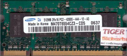 Samsung M470T6554CZ3-CD5 PC2-4200 512MB DDR2 533MHz SODIMM Arbeitsspeicher* lr09