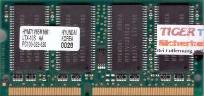 Hyundai HYM71V65M1601 LTX-10S AA PC100 128MB SDRAM 100MHz SODIMM SD RAM* lr12