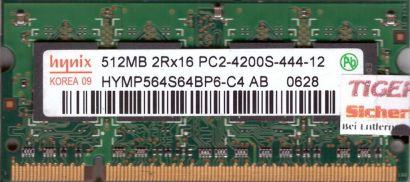 Hynix HYMP564S64BP6-C4 AB PC2-4200 512MB DDR2 533MHz SODIMM Arbeitsspeicher*lr14