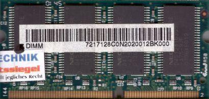 NEC 72.17128.C0N PC133 128MB SDRAM 133MHz SODIMM SD RAM Arbeitsspeicher* lr24