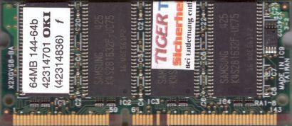 OKI Drucker Printer RAM 64MB 144-64b PC66 SODIMM SDRAM 66MHz 4231 4701 4836*dr04