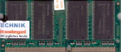 IBM 33L3069 33L3070 PC133 128MB SDRAM 133MHz SODIMM SD RAM Arbeitsspeicher* lr28
