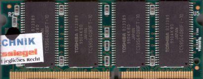 Toshiba T8Z30B-10 PC100 64MB SDRAM 100MHz SODIMM SD RAM Arbeitsspeicher* lr33