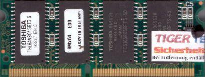 Toshiba THL64V8015BTG-5 64MB SODIMM EDO DRAM RAM Arbeitsspeicher* lr34