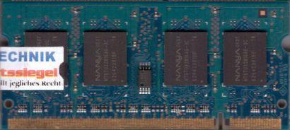 Nanya NT512T64UH8A1FN-3C PC2-5300 512MB DDR2 667MHz SODIMM Arbeitsspeicher* lr37
