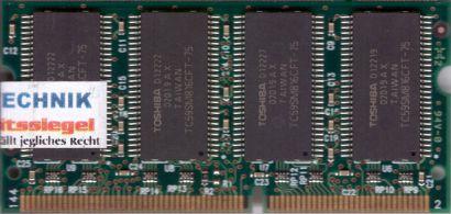 Toshiba THLY25N01C75 PC133 256MB SDRAM 133MHz SODIMM SD Arbeitsspeicher* lr39