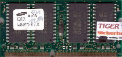 Samsung M464S1724BT1-L1L PC100 128MB SDRAM 100MHz SODIMM Arbeitsspeicher* lr44