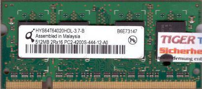 Qimonda HYS64T64020HDL-3.7-B PC2-4200 512MB DDR2 533MHz SODIMM RAM* lr45