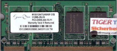 Super Elixir M1S51264TUH8A0F-37B PC2-4200 512MB DDR2 533MHz SODIMM RAM* lr46