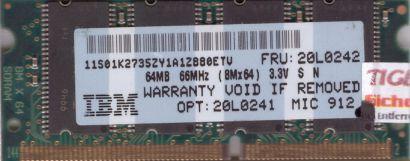 Micron MT8LSDT864LHG-662C3 PC66 64MB SDRAM 66MHz SODIMM SD Arbeitsspeicher* lr55