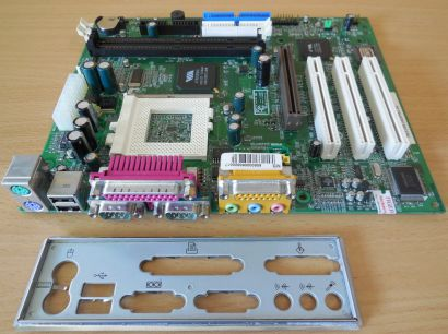 MSI MS-6318 Medion 2000 Ver 2 Mainboard +Blende Sockel 370 AGP PCI Audio* m839