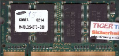 Samsung M470L3224BT0-CB0 PC-2100 256MB DDR1 266MHz SODIMM Arbeitsspeicher* lr59
