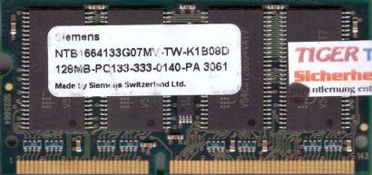 Siemens NTB1664133G07MV-TW-K1B08D PC133 128MB SDRAM 133MHz SODIMM SD RAM* lr64