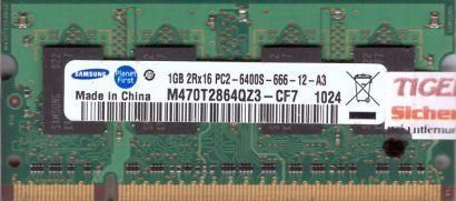 Samsung M470T2864QZ3-CF7 PC2-6400 1GB DDR2 800MHz SODIMM Arbeitsspeicher* lr65
