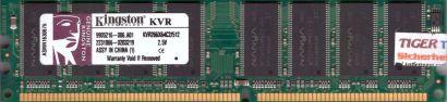 Kingston KVR266X64C2 512 PC-2100 512MB DDR1 266MHz 9905216-006 A01 RAM* r582