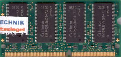 Infineon HYS64V32220GDL-7.5-D PC133 256MB SDRAM 133MHz SODIMM SD RAM* lr70
