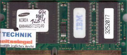 Samsung KMM466S1723T2-F0 PC66 128MB SDRAM 66MHz SODIMM IBM Arbeitsspeicher* lr75