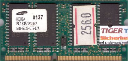 Samsung M464S3254CTS-L7A PC133 256MB SDRAM 133MHz SODIMM Arbeitsspeicher* lr79