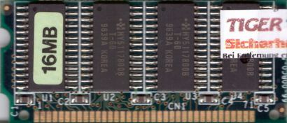 Fast Page RAM 16MB SODIMM 5V 60ns Laptop Notebook RAM Arbeitsspeicher* lr81