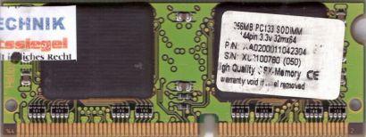 CompuStocx PC133 256MB SDRAM 133MHz SODIMM SD RAM Laptop Arbeitsspeicher* lr82