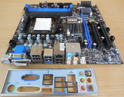 MSI 785GM-E51 MS-7596 Ver1.2 Mainboard+Blende AMD Sockel AM3 DDR3 VGA HDMI* m843