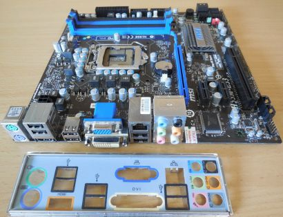 MSI H55M-E33 MS-7636 Ver 1.0 Mainboard +Blende Intel H55 Sockel 1156 DDR3* m845