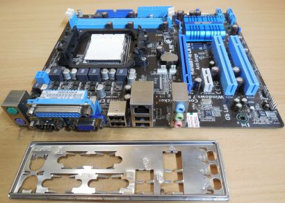 Asus M4N68T-M LE V2 Rev1.00 Mainboard +Blende AMD Sockel AM3 DDR3 PCIe IDE* m848