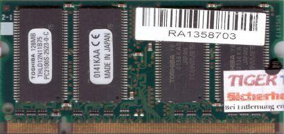 Toshiba THLD12N11B75 PC-2100 128MB DDR1 266MHz SODIMM Arbeitsspeicher* lr91