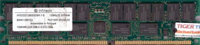 Infineon HYS72D128320GBR-7-B PC-2100R 1GB DDR1 266MHz Server Registered RAM*r586
