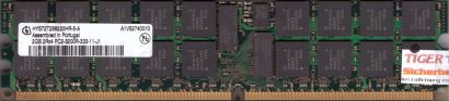 Infineon HYS72T256220HR-5-A PC2-3200R 2GB DDR2 400MHz Server Registered RAM*r587