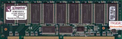 Kingston KTM3123 512 PC133 512MB 133MHz ECC Reg SD RAM 16P6372 9962254-008* r588