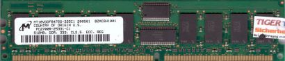 Micron MT18VDDF6472G-335C1 PC-2700R 512MB DDR1 333MHz Server ECC Reg RAM* r590