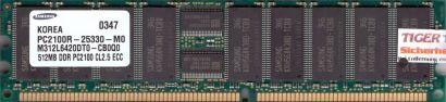 Samsung M312L6420DT0-CB0Q0 PC-2100R 512MB DDR1 266MHz Server ECC Reg RAM* r594