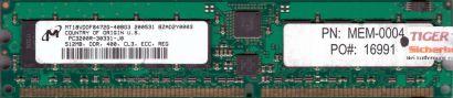 Micron MT18VDDF6472G-40BG3 PC-3200R 512MB DDR1 400MHz Server ECC Reg RAM* r597